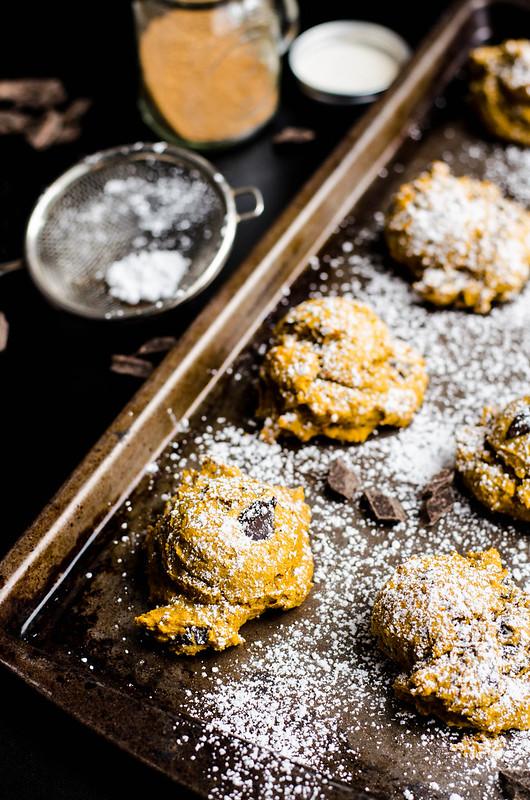 Chocolate Chip Pumpkin Cookies | cookingalamel.com