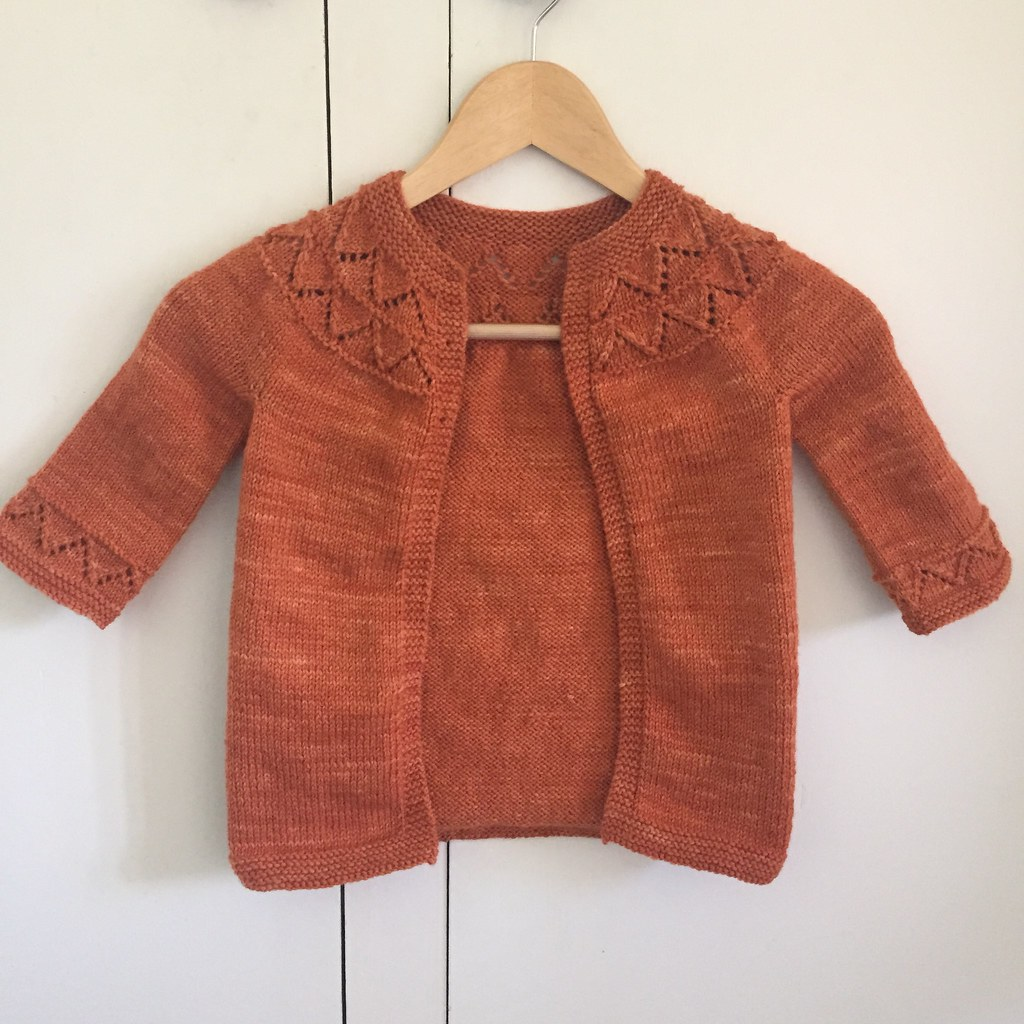 granny's favourite knitted in colinette cadenza in ginger cinnabar colourway.