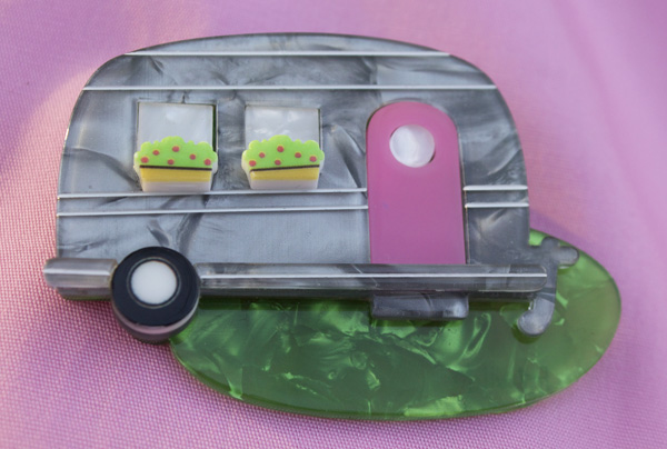 erstwilder happy camper brooch