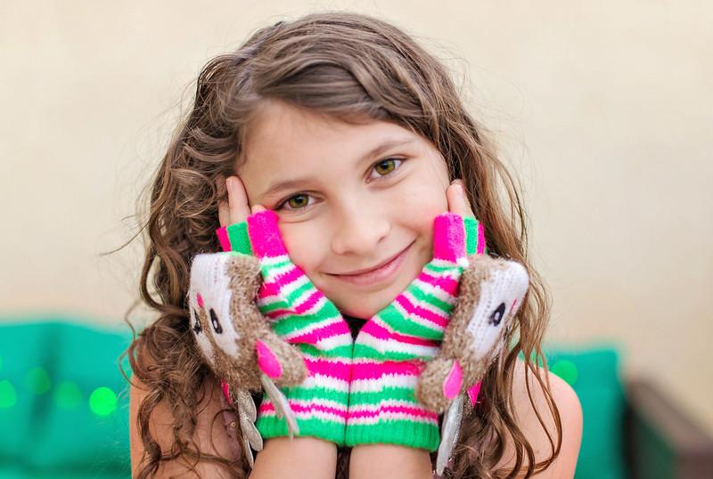 rudolf girls tween gloves