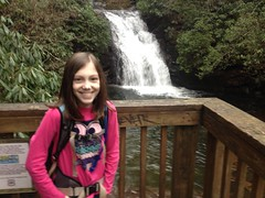 Sophie at High Shoals Falls - First Cascade