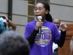 Student speaker at MLK day