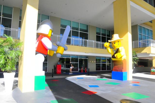 Back entrance into Legoland hotel
