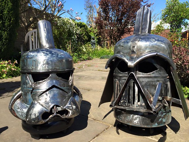 Wood burners & fire pits by Burned by Design - Star Wars Stormtrooper & Darth Vader