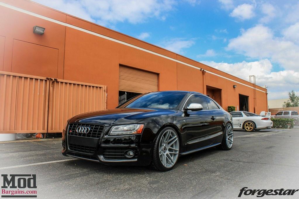 Black Audi S B Forgestar F SDC FR Custom Silv Flickr - Custom audi s5