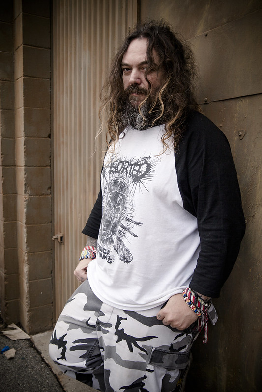 Photo of Max Cavalera by Hannah Verbeuren