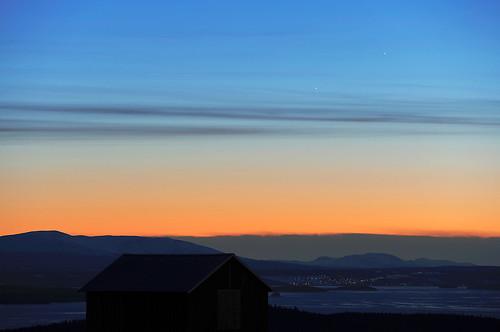 VCSE - Mai kép - Merkur, Jupiter és a naplemente