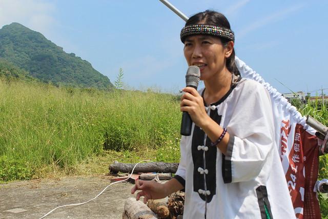 這幾年努力推動部落文化的宮莉筠。攝影:廖靜蕙