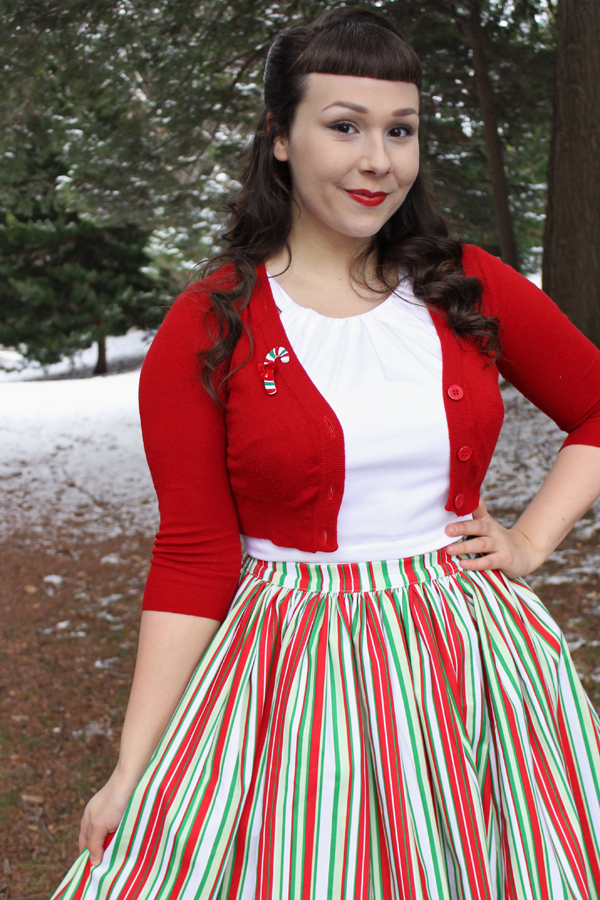 candy cane brooch