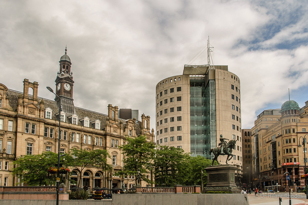 City Square And Leeds Old Post Office Building Now Used Fo
