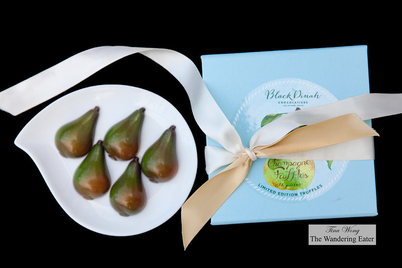 Pear Champagne Truffles by Black Dinah Chocolatiers