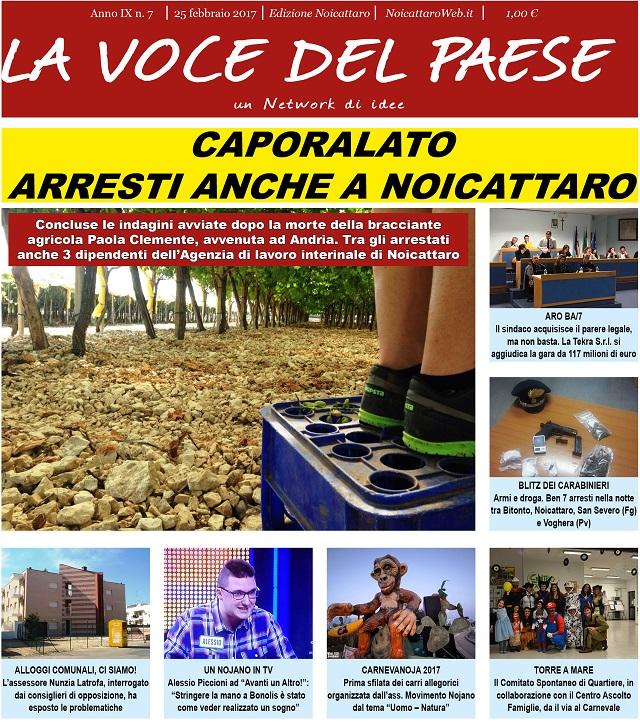 Noicattaro. Prima pagina n.7-2017 intero