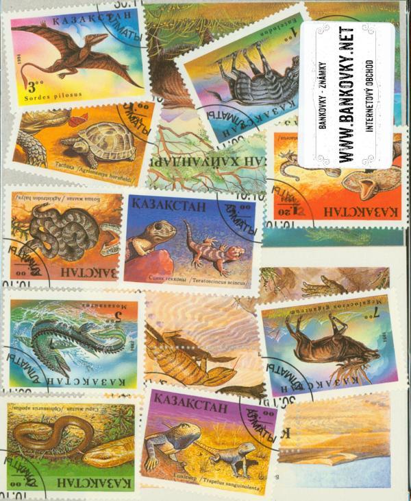 Známky Kazachstan 10 rôznych známok a 2 hárčeky