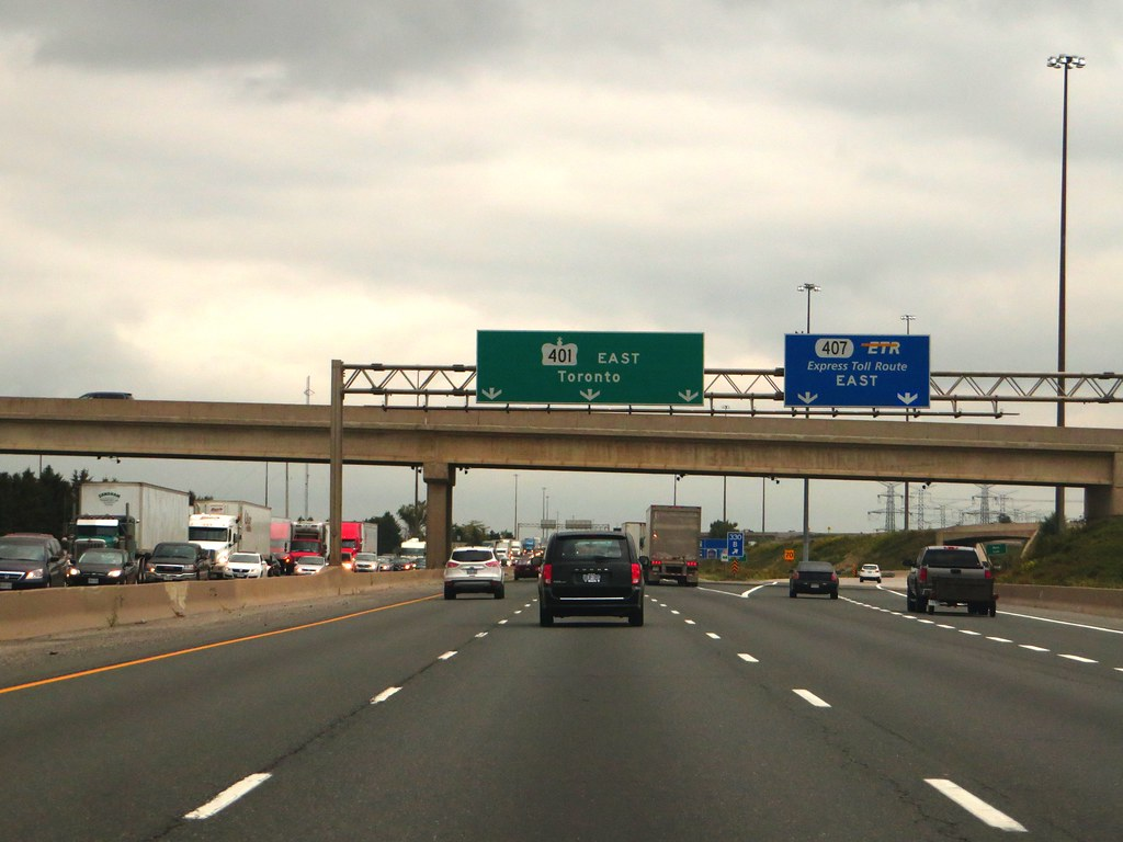 Junction Of Highway 407 With Kings Highway 407 Milton On Flickr