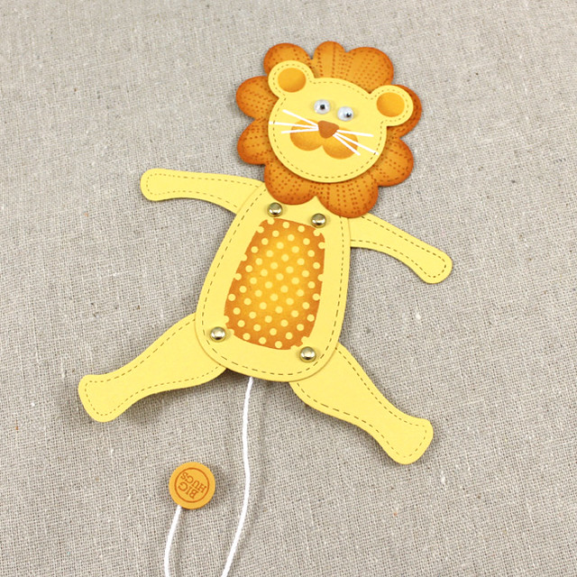 Lion Jumping Jack Toy