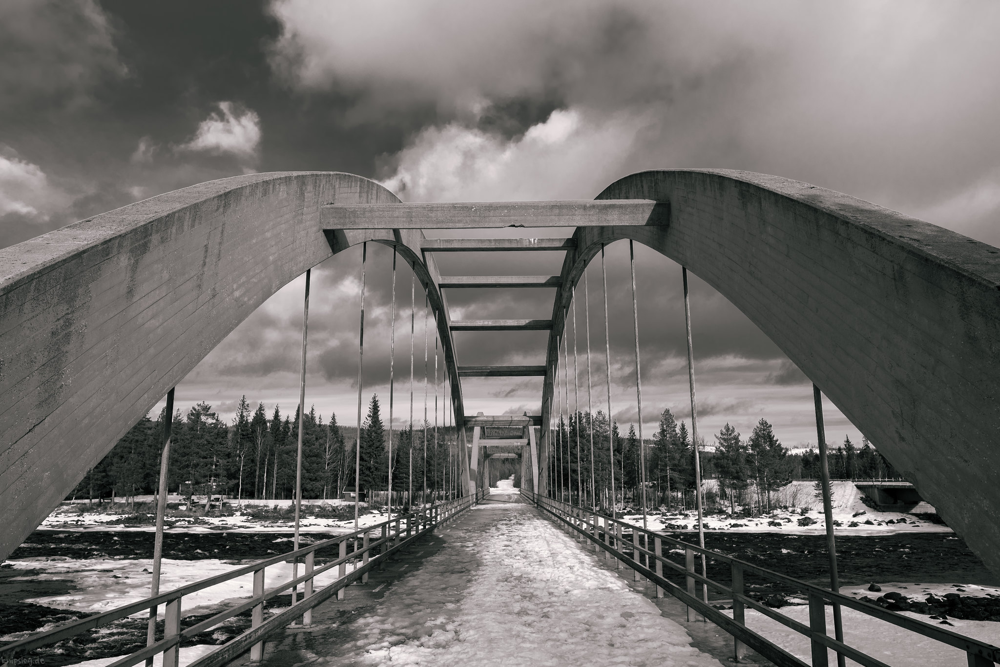 Bridge over the cold lake