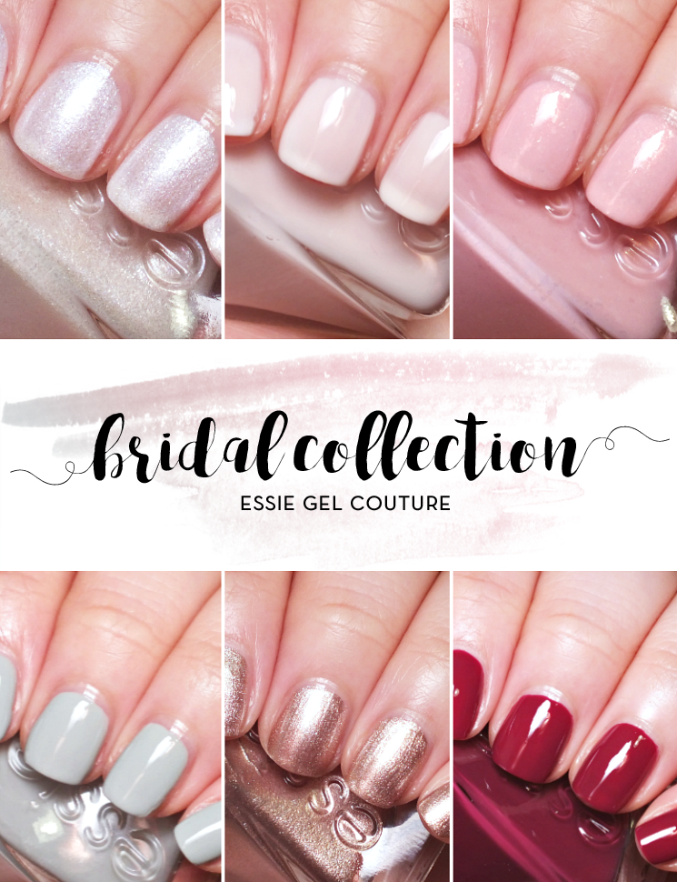 essie gel couture bridal collection 2017