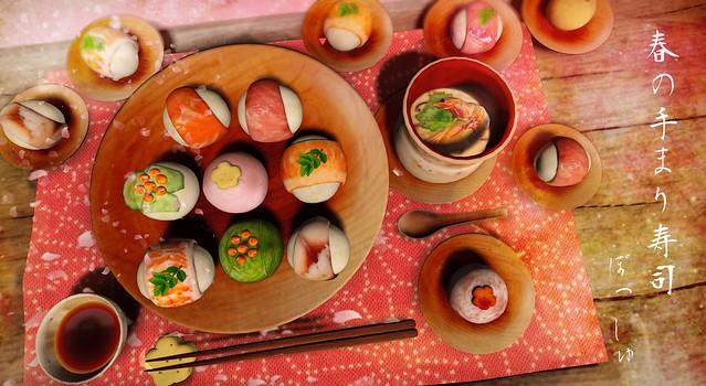 春の手まり寿司poche