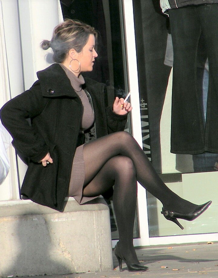 Hottest Smoker With The Hottest Legs  Not My Work But -1254