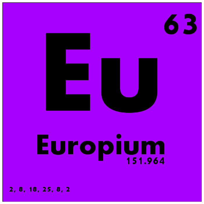 063 Europium Periodic Table Of Elements Watch Study Guid Flickr