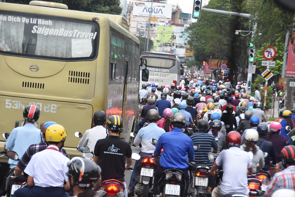 Weaving Through The Notorious Saigon Rush Hour Traffic