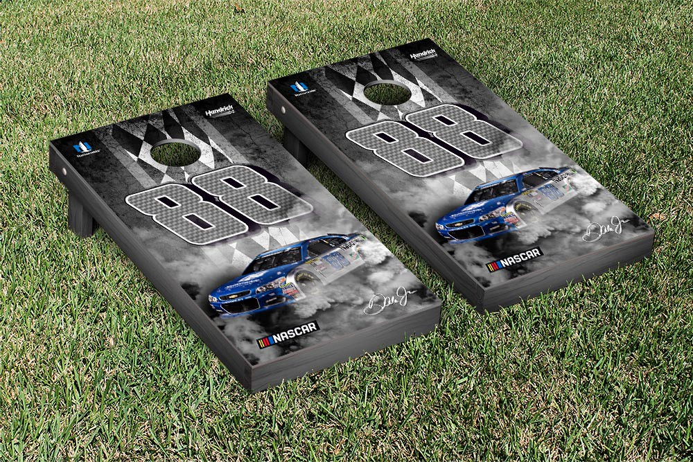 DALE EARNHARDT JR #78 CORNHOLE GAME SET PIT ROW VERSION (1)