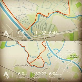 Ochtendloopje met @grietvandurme. Middagloopje met @johanbresseleers. En zo komen we weer aan ons kilometers voor vandaag! #roadtoverdi #running #runstagram #runfie