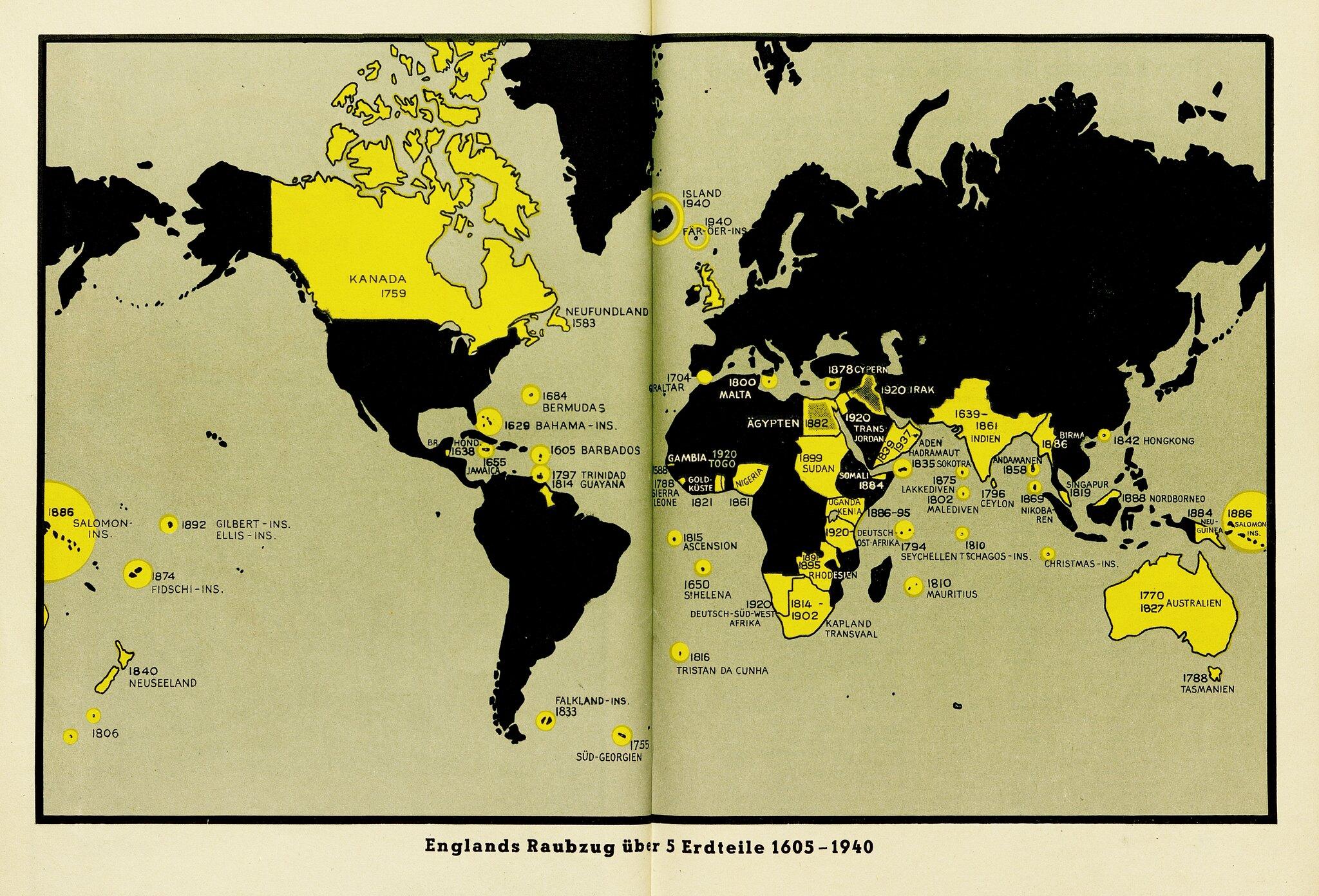 1940 German propaganda map of the British