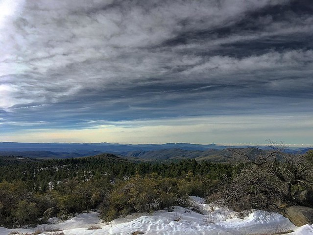 On top of peak number 1 today right now. More snow than expected.