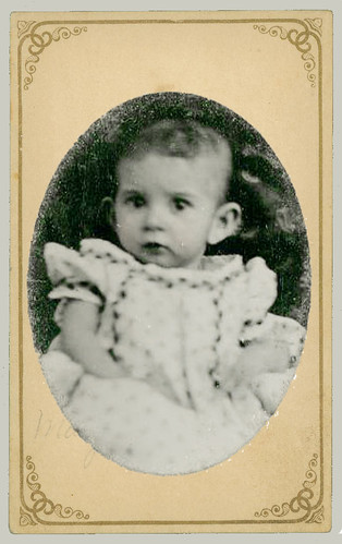Small tintype of baby
