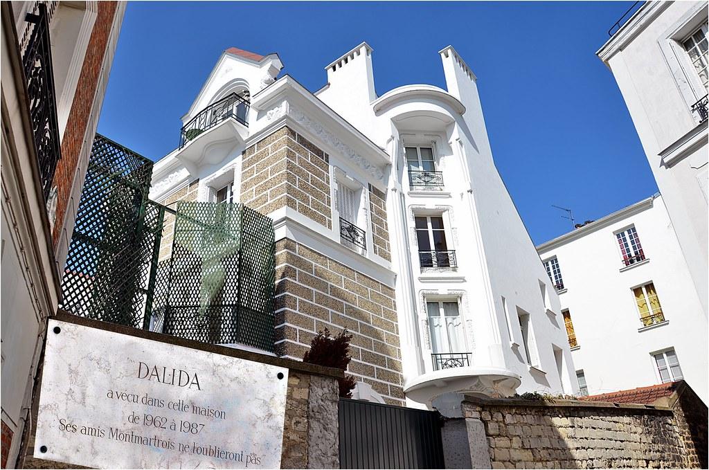 La maison de dalida rue d 39 orchampt j 39 ai agrandi la plaqu for La maison d harmony