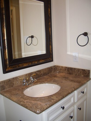 Light Emperador Marble Vanity