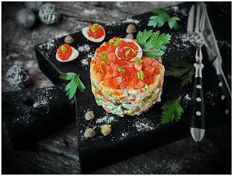 ...Olivier salmon salad