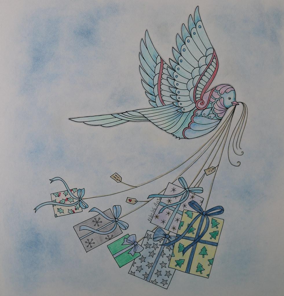 johanna basford christmas birdie | From the Christmas Book. … | Flickr