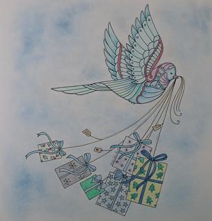 Johanna Basford Christmas Birdie