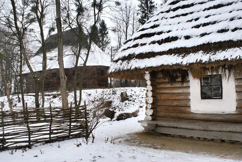 Maisons traditionnelles du musée de construction populaire de Lviv.