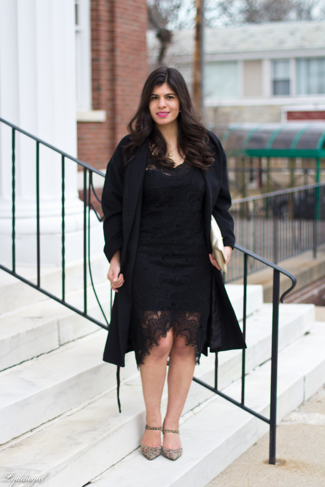 free people lace dress, wrap coat, leopard pumps-2.jpg