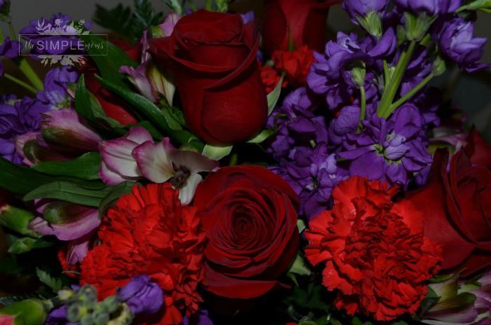 teleflora's shining heart bouquet close up