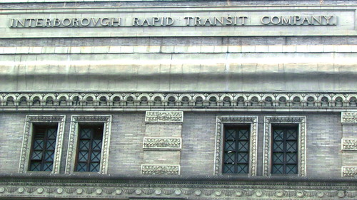 "Sign Showing ""Interborough Rapid Transit Company"""