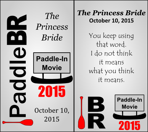 Collectible PaddleBR Paddle-In Movie badge example.