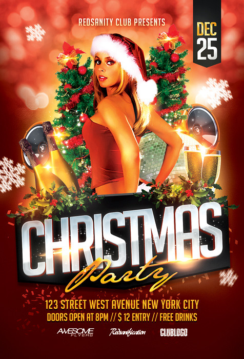 Christmas Party Flyer Psd Template Download The Photoshop Flickr