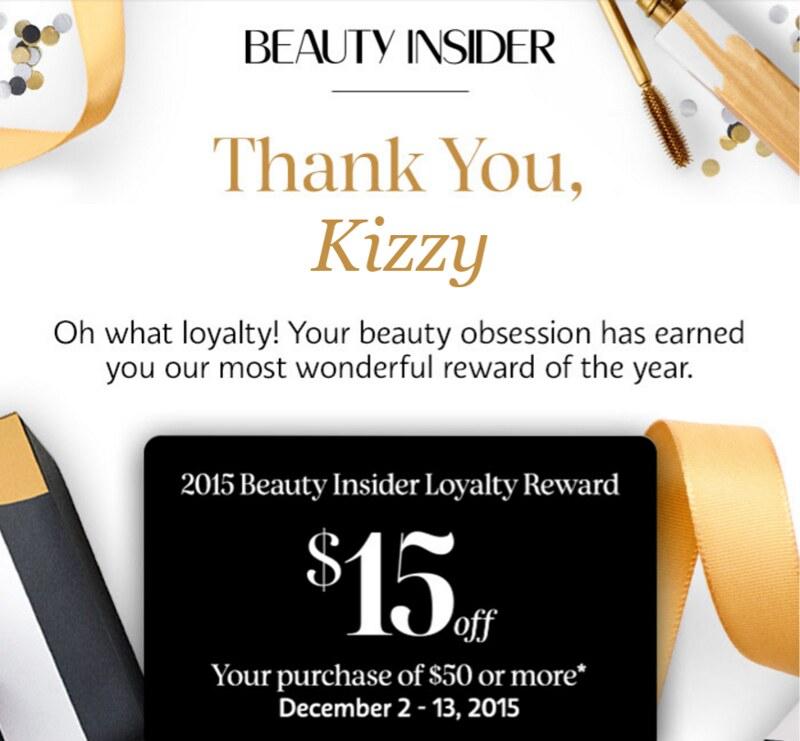 Sephora Holiday 2015 Loyalty Rewards discount code codes