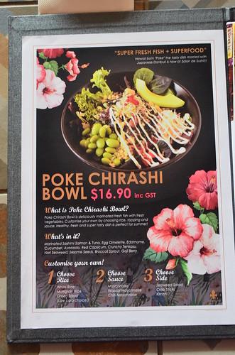 poke chirashi bowl menu photo salon de sushi south melb. Black Bedroom Furniture Sets. Home Design Ideas