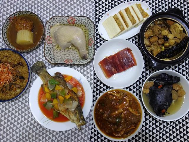 豐盛的八道菜色!櫻花蝦油飯、獅子頭、油雞腿、糖醋魚、五更腸旺、蜜汁火腿、雞湯、佛跳牆 || 儂來珍饌八菜@良品嚴選計畫