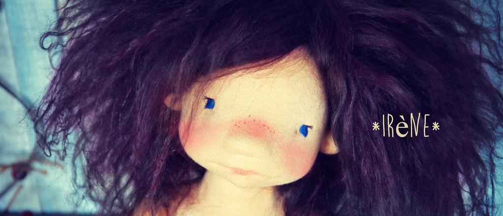 Irène,15'' Natural Fiber Art Doll by Les PouPZ