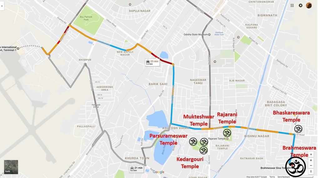 Brahmeswara Temple map