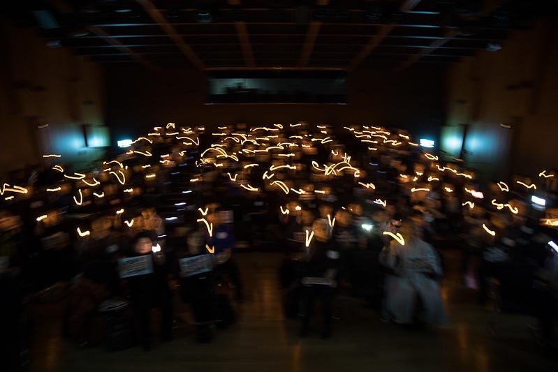 참여연대 제23차 정기총회 촛불소등퍼포먼스