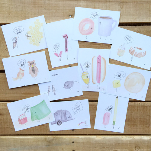 pun cards set by lesley zellers | by lesley zellers