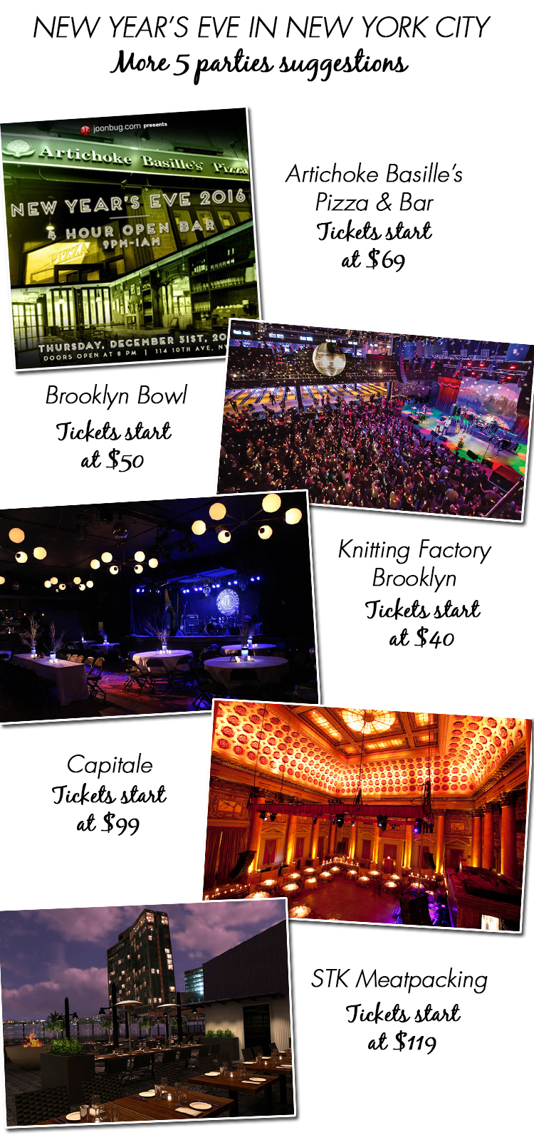 New Year's Eve In New York City: 5 Parties Suggestions