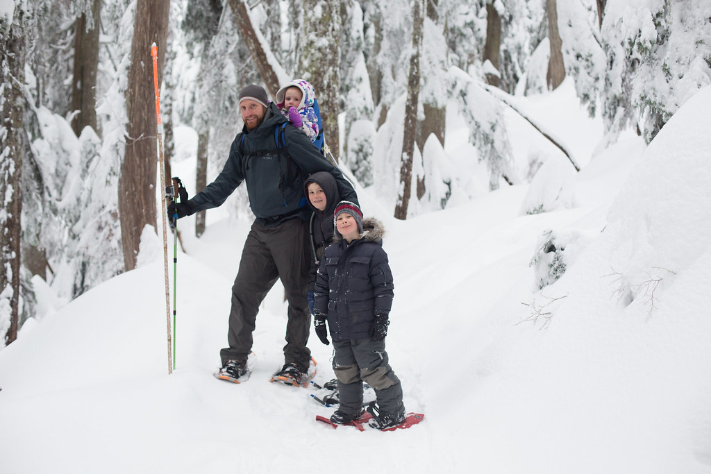 Snowshoeing as a family